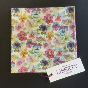 Think of Me Liberty of London floral cotton fabric handkerchief