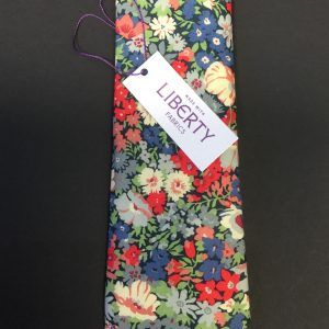 Thorpe Green and Blue Liberty of London floral cotton fabric tie