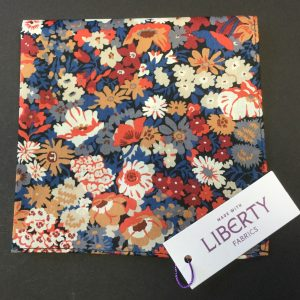 Thorpe Orange Liberty of London floral cotton fabric handkerchief