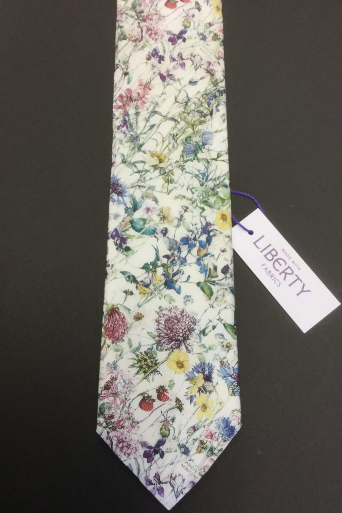 Wild Flowers Ivory Liberty of London floral cotton fabric tie