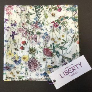 Wild Flowers Ivory Liberty of London floral cotton fabric handkerchief