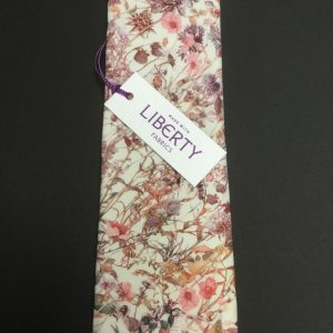 Pink Wild Flowers Liberty of London cotton fabric floral tie