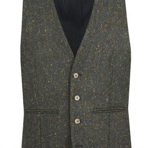 Donegal Green Tweed Suit Waistcoat by Black Tie Menswear, Berkshire