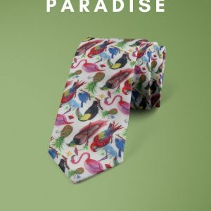 Birds of Paradise Liberty of London cotton fabric floral tie
