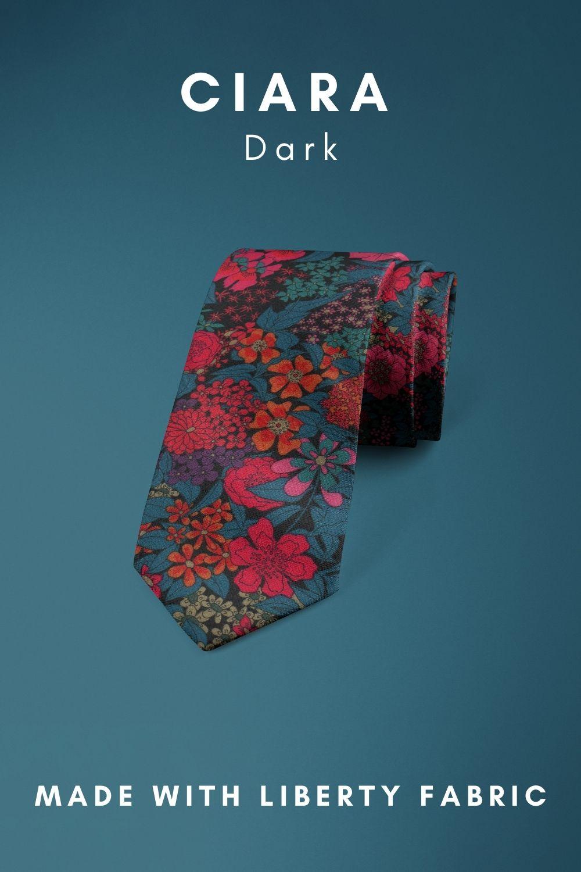 Ciara Dark Liberty of London cotton fabric floral tie