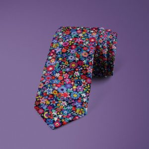 Dazzle Liberty of London cotton fabric floral tie