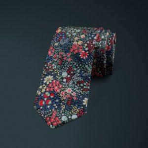 Elderberry Liberty of London cotton fabric floral tie