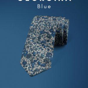Emma & Georgina Blue Liberty of London cotton fabric floral tie