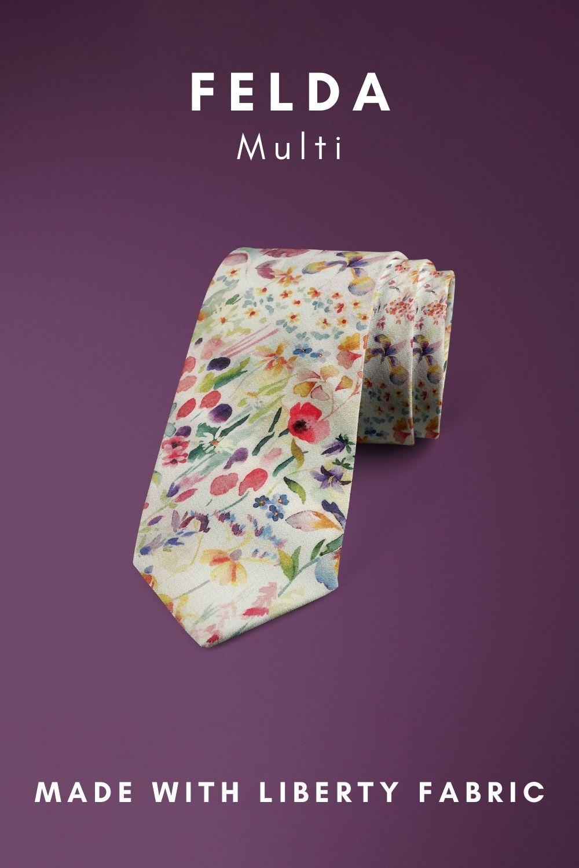 Felda Multi Liberty of London cotton fabric floral tie