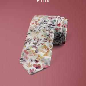 Felda Pink Liberty of London cotton fabric floral tie