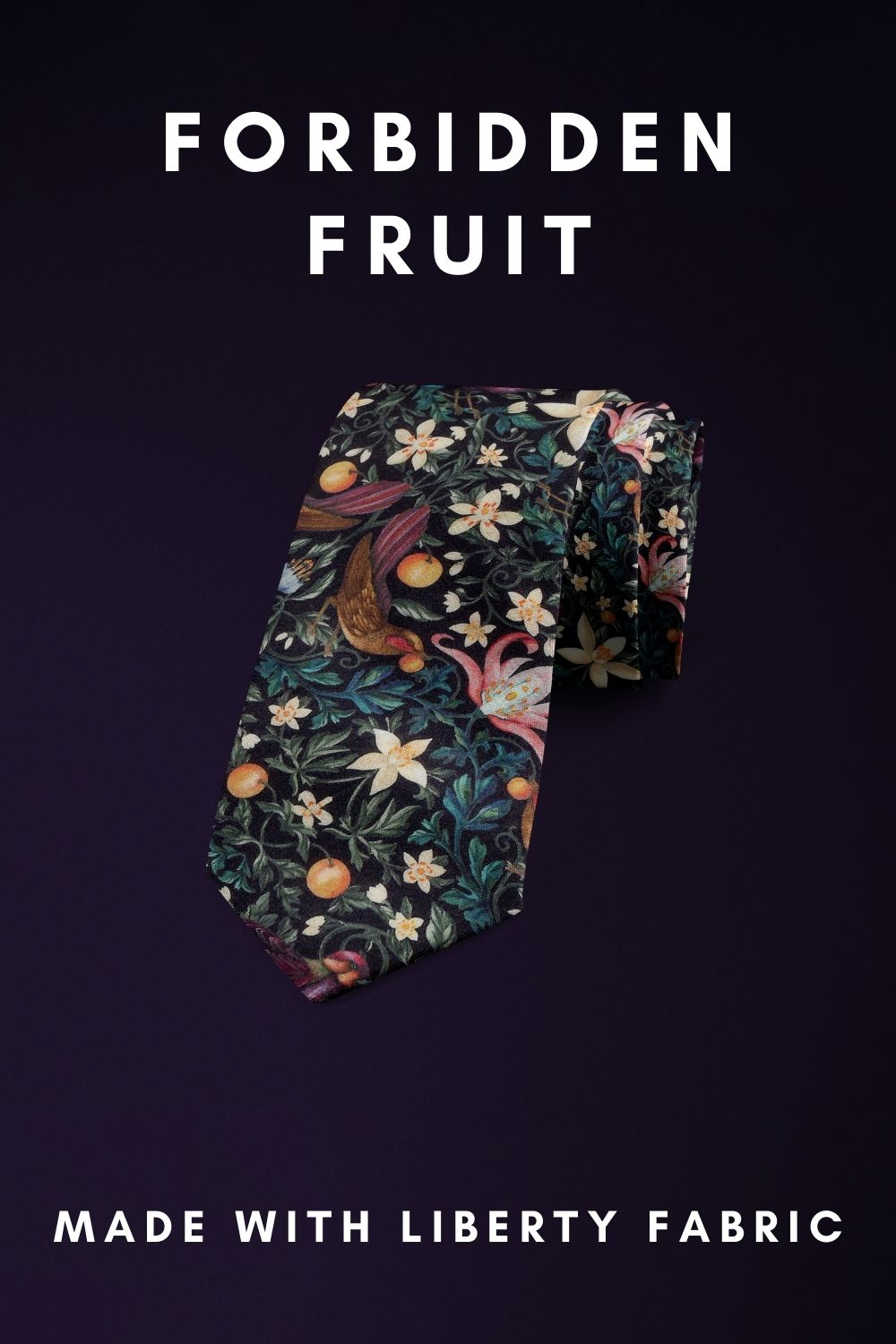 Forbidden Fruit Liberty of London cotton fabric floral tie