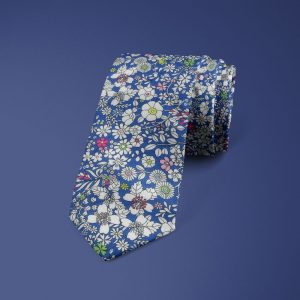 Junes Meadow Liberty of London cotton fabric floral tie