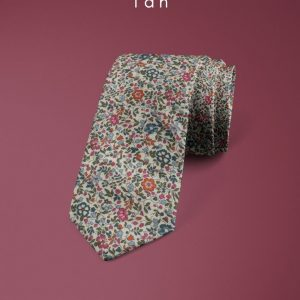 Katie & Millie Tan Liberty of London cotton fabric floral tie