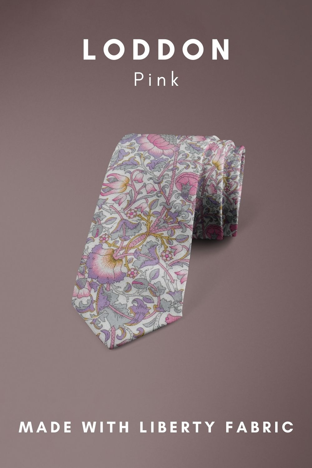 Loddon Pink Liberty of London cotton fabric floral tie