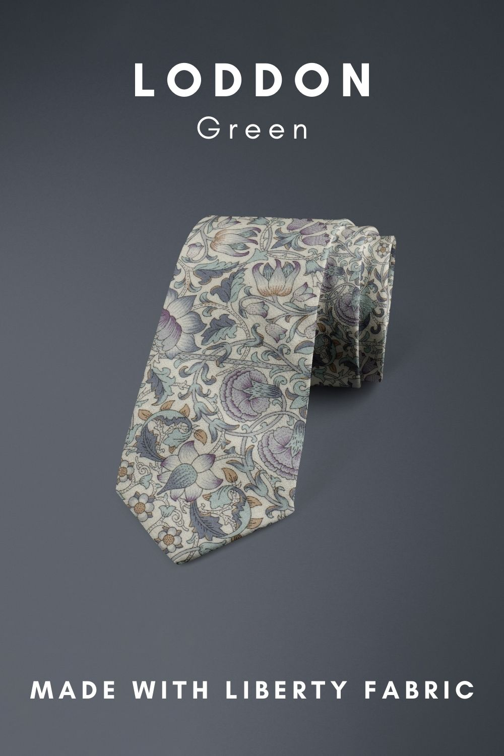 Loddon Green Liberty of London cotton fabric floral tie