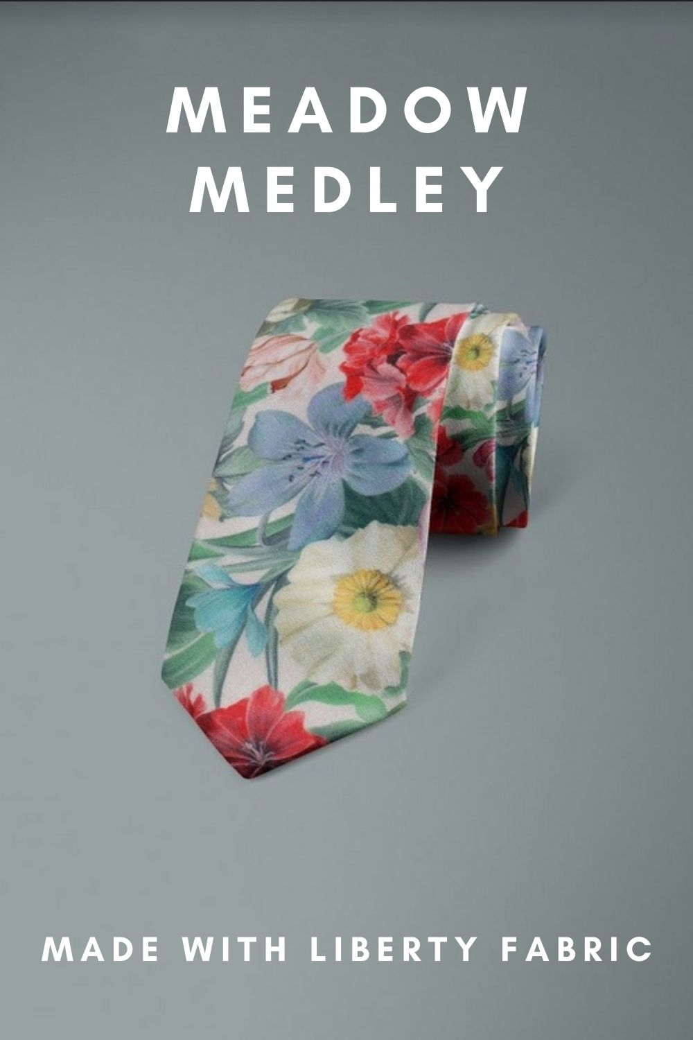 Meadow Medley Liberty of London cotton fabric floral tie
