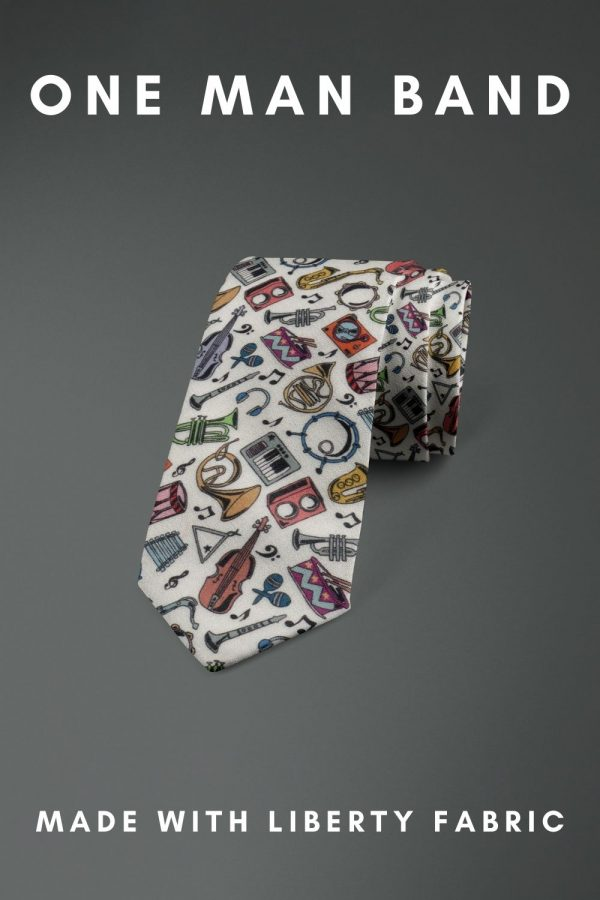 One Man Band Liberty of London cotton fabric floral tie