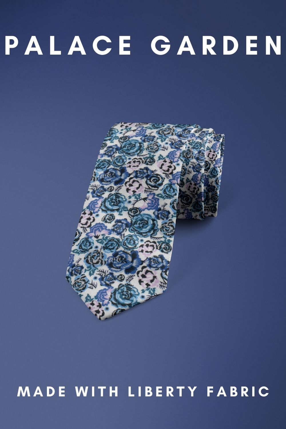 Palace Garden Liberty of London cotton fabric floral tie