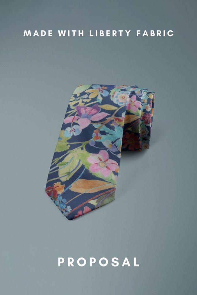 Proposal Liberty of London floral cotton tie