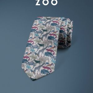 Queue For The Zoo Liberty of London cotton fabric floral tie