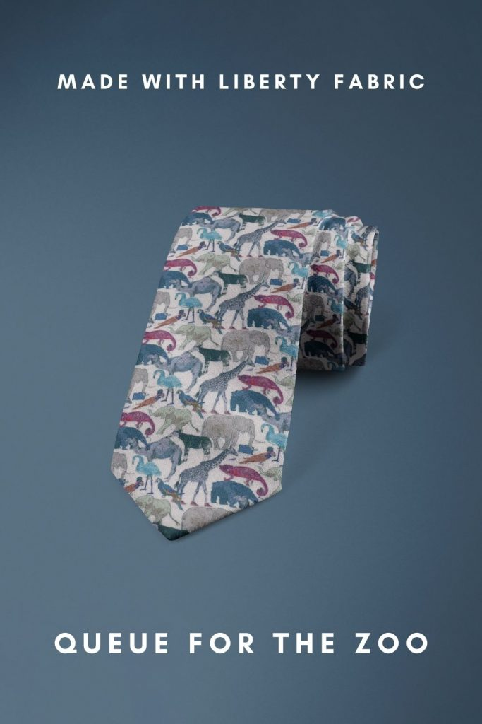 Queue For The Zoo Liberty of London floral cotton tie