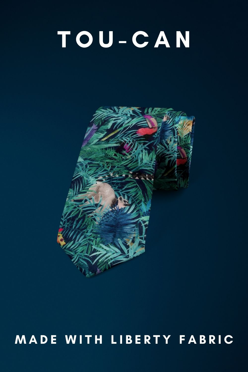Tou-Can Liberty of London cotton fabric floral tie